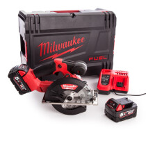 Milwaukee M18FMCS-502X M18 Fuel Metal Saw 150mm (2x 5.0Ah batteries, Rapid Charger, HD Box)