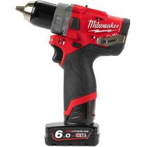Milwaukee M12FPD-602X 12v Fuel Combi Drill with 2 x 6Ah Batteries