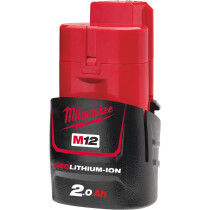 Milwaukee M12B2 12v 2.0Ah REDLITHIUM Ion Battery