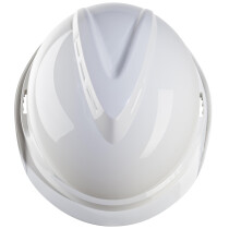 MSA GV912 V-GARD 520 Short-Peak Safety Helmet With Fas-Trac Insert (White)