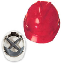 MSA VGard Red (GV132) Safety Helmet With Fas-Trac Insert