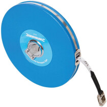 Silverline MT40 Fibre Surveyors Tape Measure 50m
