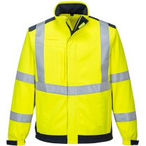 Portwest MV72 Hi-Vis Modaflame Multi Norm Arc Softshell Jacket Flame Resistant