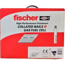 Fischer 534707 3.1x75mm Ring Galvanised Nail Fuel Pack EC5SC2 Paslode Compatible (2,200 Nails & 2 Gas)