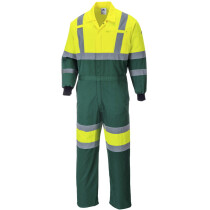 Portwest E052 X Hi-Vis Workwear Coverall - High Visibility - Yellow/Green