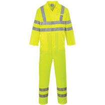 Portwest E042 Classic High Visibility Poly-cotton Coverall - Yellow
