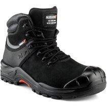Buckbootz NKZ102 Nubuckz Non-Mtallic S3 Black Leather Safety Boot HRO WRU SRC UK Size 11