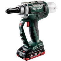 Metabo NP18LTXBL5.0 18v Riveter with 2 Batteries