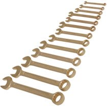 Sealey NS001 Combination Spanner Set 13 Piece 8-32mm Non-Sparking Beryllium Copper