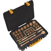 "Sealey NS039 Socket Set 32 Piece 1/2"" Drive Non-Sparking Beryllium Copper"
