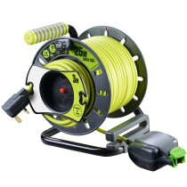 Masterplug OMU2513FL3IP-PX Pro XT 25m + 3m IP Outdoor Reverse Open Cable Reel