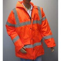 JSP F-BHVMWJ-ORN Orange HiVis Waterproof Gort Breathable Padded Motorway Jacket