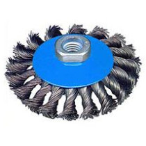 Osborn 0002-632151 115mm Knotted Bevel Wire Brush (M14 x 2 Threads)