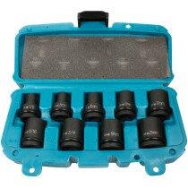 "Makita P-46953 9 Piece Metric Set of Impact Sockets 1/2"" Drive"
