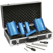 Makita P-74712 5-Piece Diamak Diamond Core Kit in Aluminium Carry Case