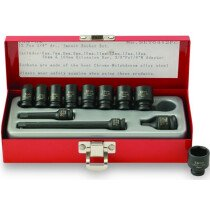 "ISS SET0412PC 1/4"" Drive Metric Std Length Impact Sockets & Accessories 12 Piece"