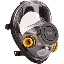 Portwest P500 Vienna Full Face Mask with Dual Bayonet Filter Connection and ABS Filter Holders - Respiratory Protection