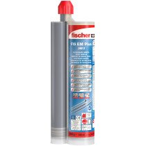 Fischer 544155 Injection Mortar FIS EM PLUS 390ML with 2 x FIS MR Static Mixers