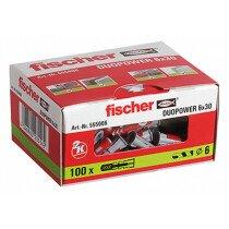 Fischer 555006 Duopower Nylon High Performance Plug 6 x 30mm Box x 100