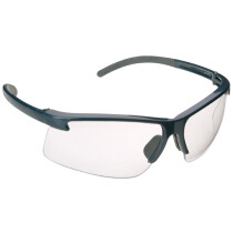 JSP ASA090-120-400 PA800 Clear Lens, Grey Frame Safety Spectacles Glasses