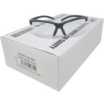 JSP ASA090-120-400 PA800 Clear Lens, Grey Frame Safety Spectacles Glasses (Box of 10 pairs)