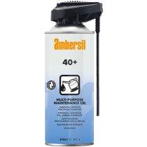 Ambersil 33180 40+ PermaStraw Industrial Grade Multi-Purpose Protective Lubricant 400ml