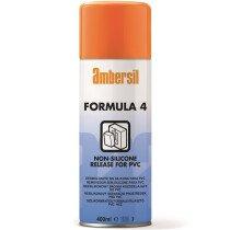 Ambersil 31548-AA Formula 4 (Four) PVC/PU Elastomer Release Aerosol (Carton of 12 x 400ml)