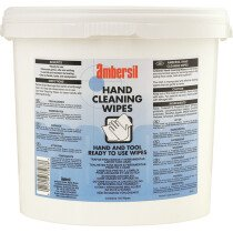 Ambersil 31798-AA Hand Cleaning Wipes 150 Tub
