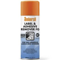 Ambersil 30254-AA NSF Registered Label & Adhesive Remover FG 200ml (Pack of 12)
