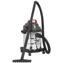 Sealey PC195SD 20ltr Wet & Dry Vacuum Cleaner 1250W 230v Stainless Drum