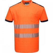 Portwest T181 PW3 Hi-Vis T-Shirt Short Sleeve High Visibility