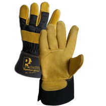 Lawson-HIS PRED 2 Premier Cow Hide Rigger Glove - Gold Leather