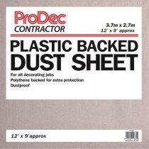 ProDec PRTRDSH Polythene Backed Cotton Twill Dust Sheet 12' x 9'