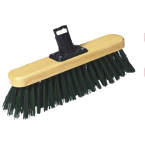 "Harris PSS303F 12"" Stiff PVC Broom Head - Varnished"