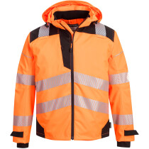 Portwest PW360 PW3 Hi-Vis Extreme Breathable Rain Jacket High Visibility - Available in Orange or Yellow
