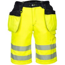 Portwest PW343 PW3 Hi-Vis Holster Shorts High Visibility - Available in Yellow or Orange