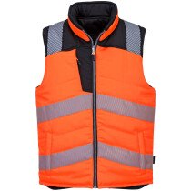 Portwest PW374 PW3 Hi-Vis Reversible Bodywarmer High Visibility - Available in Orange or Yellow