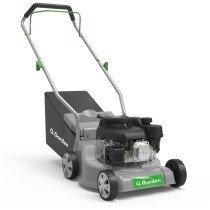 """QGarden QG39-130 Push Petrol Lawn Mower Poly Deck 130cc  15""""- 39cm"""
