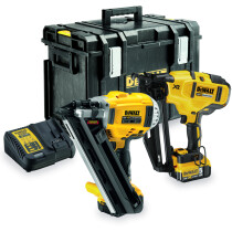 DeWalt DCK264P2-GB 18v Nailer Twinkit, First Fix and Brad Nailers with 2 Batteries