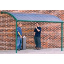 QMP SS241930CWM Large Wall Mounted Smoking Shelter