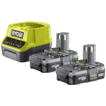 Ryobi RC18120-213 2x1.3AH 18V Lithium Batteries and Charger ONE+