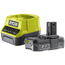 Ryobi RC18120-120 1x2.0AH 18V Battery and Charger Kit ONE+