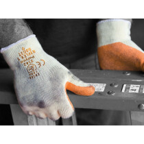 Polyco 8601T Reflex-T (Orange) Polycotton Handling Glove With Latex Coating (Clearance Size 7)