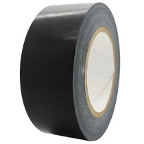 "RS RS122 Black Cloth Gaffa Tape 2"" 48mmx50m Roll"