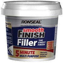 Ronseal 36564 Smooth Finish 5 Minute Multi Purpose Filler Tub 600ml RSL5MF600ML