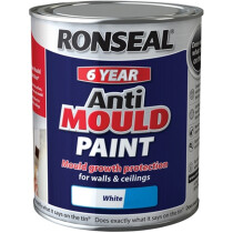 Ronseal 36625 Anti Mould Paint White Silk 750ml RSLAMPWS750