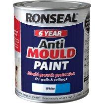 Ronseal 36623 Anti Mould Paint White Matt 750ml RSLAMPWM750