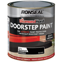 Ronseal 36659 Diamond Hard Doorstep Paint Black 250ml RSLDHDSPB250