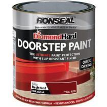 Ronseal 36658 Diamond Hard Doorstep Paint Tile Red 250ml RSLDHDSPR250