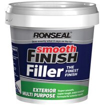 Ronseal 36562 Smooth Finish Exterior Multi Purpose Ready Mix Filler Tub 1.2kg RSLERMF12KG